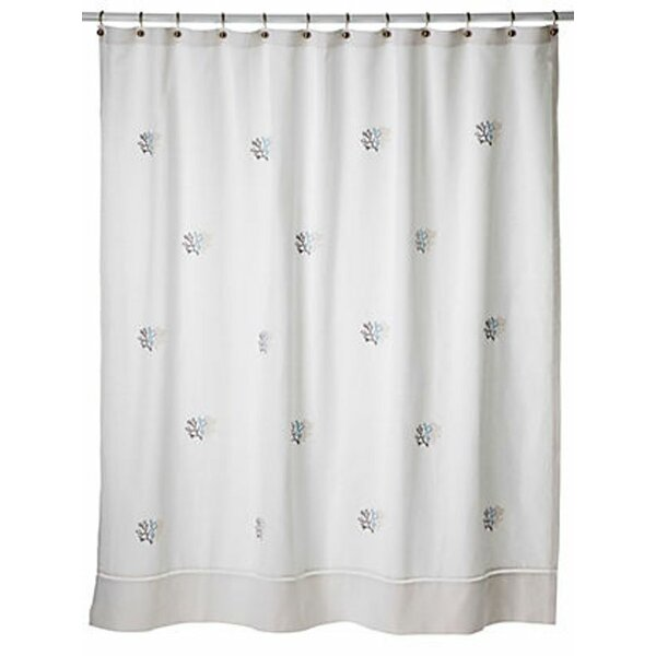 Carden 100% Cotton Percale Shower Curtain by Highland Dunes